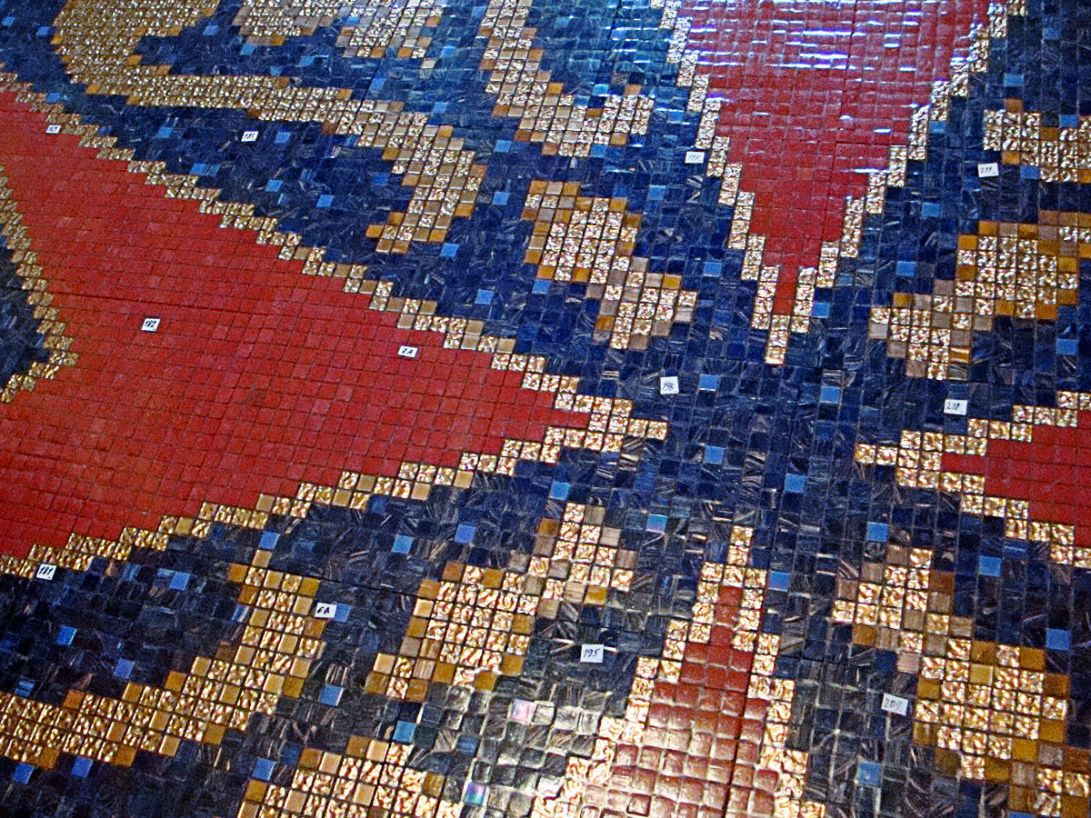 Mosaic art in pool
