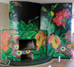 Mosaic tile Flower for fireplace