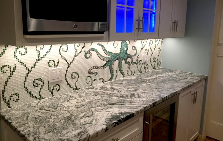 Mosaic backsplash