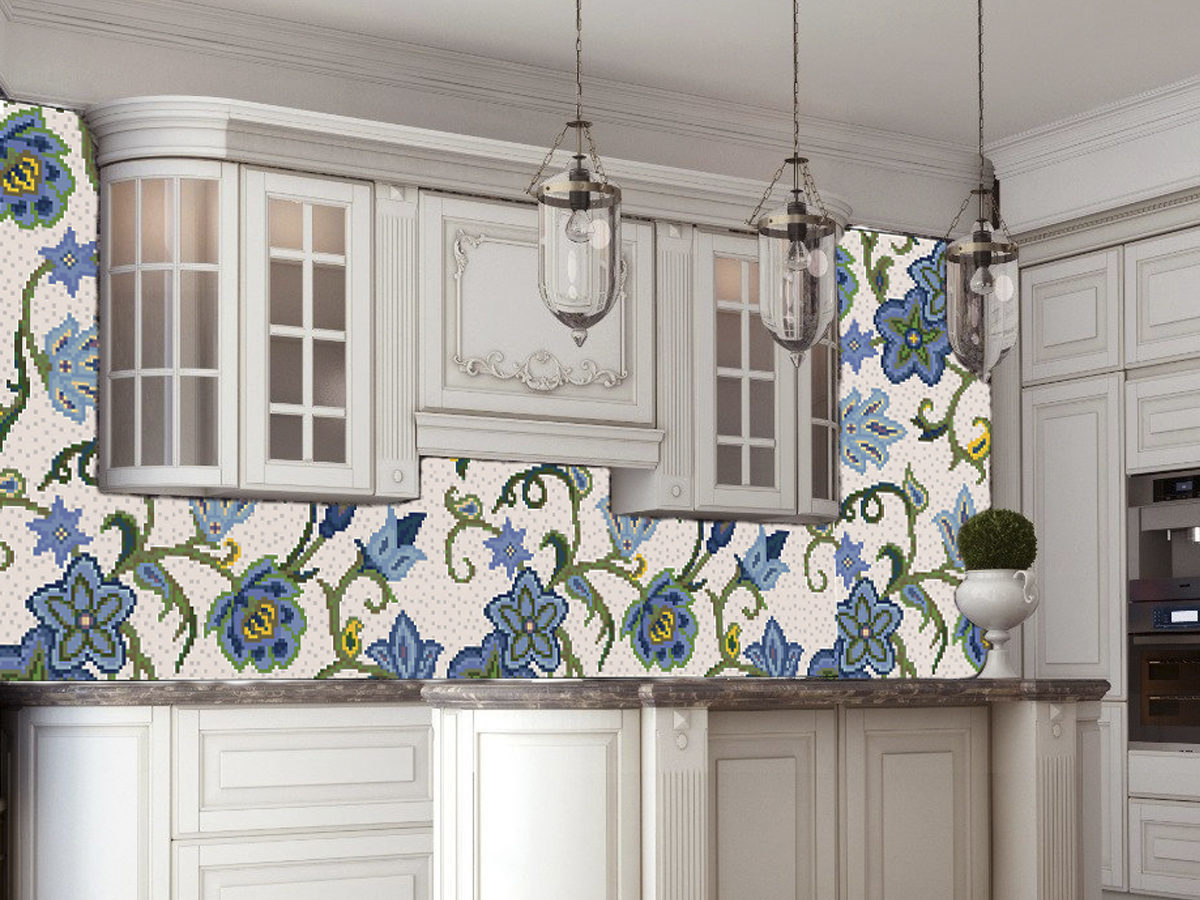 Mosaic Flower Backsplash
